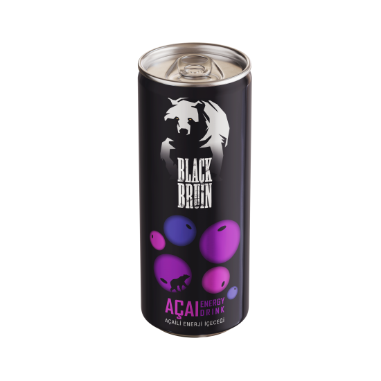 Black Bruin Açaili Enerji İçeceği 250ml x 12 Adet