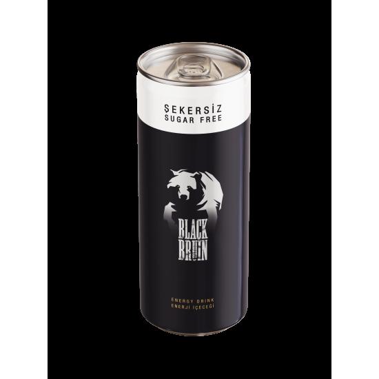 Şekersiz Black Bruin Enerji İçeceği 250ml x 12 adet
